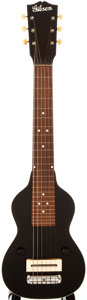 Musical Instruments:Lap Steel Guitars, 1936 Gibson EH-100 Black Lap Steel Guitar, #1173-18....