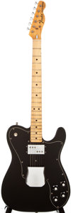 Musical Instruments:Electric Guitars, 1973 Fender Telecaster Custom Black Solid Body Electric Guitar,#398048....