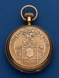 Timepieces:Pocket (pre 1900) , Elgin 10 Size 10k Gold Dexter Street Pocket Watch For Repair. ...