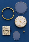 Timepieces:Wristwatch, Parts Lot Including Rolex Caliber 1570 Movement. ...