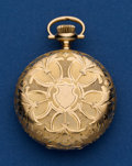 Timepieces:Pocket (post 1900), Illinois 14k Gold O Size Hunters Case Pocket Watch. ...