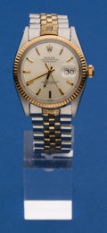 Timepieces:Wristwatch, Rolex Ref. 1601 Steel & Gold Oyster Perpetual Datejust, circa 1966. ...