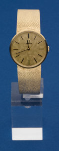 Timepieces:Wristwatch, Omega Manual Wind 14k Bracelet Wristwatch. ...