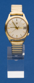 Timepieces:Wristwatch, Bulova 14k Gold 218 Accutron Wristwatch. ...