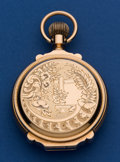 Timepieces:Pocket (post 1900), Waltham 14k Gold 18 Size Box Hinged Hunter's Case Pocket Watch. ...