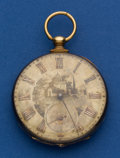 Timepieces:Pocket (pre 1900) , Roskell 46 mm 18k Gold Key Wind Fancy Case Pocket Watch. ...