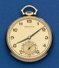 Timepieces:Pocket (post 1900), Hamilton 23 Jewel Grade 923 14k Gold Double Hinged Back Case. ...