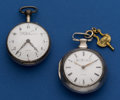 Timepieces:Pocket (pre 1900) , Two - D.D. Neveren Verge Fusee Pocket Watches For Restoration. ...(Total: 2 Items)