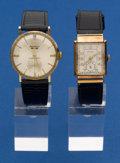 Timepieces:Wristwatch, Two Swiss 14k Gold Wristwatches Runners. ... (Total: 2 Items)