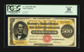 Large Size:Gold Certificates, Fr. 1216b $500 1882 Gold Certificate PCGS Apparent Very Fine 30.. ...