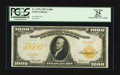 Large Size:Gold Certificates, Fr. 1219e $1000 1907 Gold Certificate PCGS Apparent Very Fine 25.....