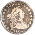 Early Dimes, 1804 10C 14 Stars on Reverse VG8 PCGS. CAC. JR-2, R.5....