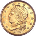 Early Quarter Eagles, 1830 $2 1/2 MS62 PCGS. Breen-6133, BD-1, R.4. ...