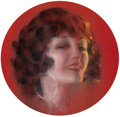 Pulp, Pulp-like, Digests, and Paperback Art, ROLF ARMSTRONG (American, 1889-1960). Pola Negri, Screenlandmagazine cover, July 1924. Pastel on board. 13 x 13 in.. Si...