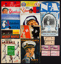 Miscellaneous Collectibles:General, Vintage Baseball and Football Programs, Yearbooks and Ticket StubsLot....
