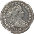 Early Quarters, 1796 25C -- Plugged, Whizzed -- NGC Details. VF. B-2, R.3....
