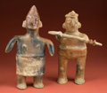 Pre-Columbian:Ceramics, Pair of Early Colima Figures... (Total: 2 Items)