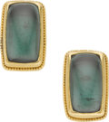 Estate Jewelry:Earrings, Tourmaline, Gold Earrings, Gloria Natale. ...