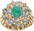 Estate Jewelry:Rings, Emerald, Colored Diamond, Gold Ring . ...