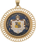 Estate Jewelry:Pendants and Lockets, Enamel, Gold Pendant. ...