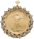 Estate Jewelry:Pendants and Lockets, US Gold Coin, Diamond, Gold Pendant. ...