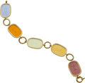 Estate Jewelry:Bracelets, Venetian Glass, Gold Bracelet, Tagliamonte. ...