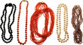 Estate Jewelry:Necklaces, Coral, Black Onyx, Cultured Pearl, Gold Necklaces. ...