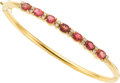 Estate Jewelry:Bracelets, Pink Sapphire, Diamond, Gold Bracelet. ...
