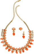 Estate Jewelry:Coin Jewelry and Suites, Coral, Diamond, Gold Suite. ...