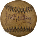 Autographs:Baseballs, Circa 1920 Joe Kelley Single Signed Baseball. ...