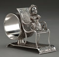 Silver Holloware, American:Napkin Rings, A MIDDLETOWN SILVER-PLATED FIGURAL NAPKIN RING . Middletown PlateCo., Middletown, Connecticut, circa 1875. Marks: MIDDLET...