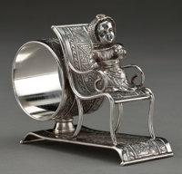 A MIDDLETOWN SILVER-PLATED FIGURAL NAPKIN RING Middletown Plate Co., Middletown, Connecticut, circa 1875 Marks