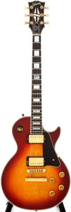 Musical Instruments:Electric Guitars, 1985 Gibson Les Paul Custom Sunburst Solid Body Electric Guitar,#835255....
