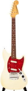 Musical Instruments:Electric Guitars, 1965 Fender Mustang Olympic White Solid Body Electric Guitar,#L91913....