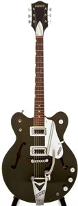 Musical Instruments:Electric Guitars, 1967 Gretsch Rally Cadillac Green Semi-Hollow Body Electric Guitar, #11716....