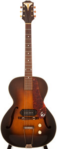 Musical Instruments:Electric Guitars, 1939-40 Epiphone Sunburst Semi-Hollow Body Electric Guitar,#3061....