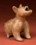 American Indian Art:Pottery, Howling Colima Dog...