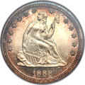 Proof Seated Quarters, 1888 25C PR67 Cameo NGC....