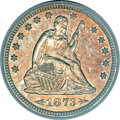 Proof Seated Quarters, 1873 25C Arrows PR64 PCGS. CAC....