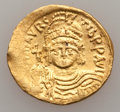 Ancients:Byzantine, Ancients: Maurice Tiberius (582-602). AV solidus (4.44 gm). ...