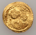 Ancients:Byzantine, Ancients: Heraclius (610-641). AV solidus (4.45 gm). ...