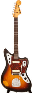 Musical Instruments:Electric Guitars, 1962 Fender Jaguar Sunburst Solid Body Electric Guitar, #87296....