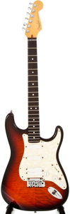 Musical Instruments:Electric Guitars, 1997 Fender Stratocaster Ultra Sunburst Solid Body Electric Guitar,#SN7949265....
