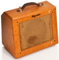 Musical Instruments:Amplifiers, PA, & Effects, 1950s Magnatone Varsity Tan Guitar Amplifier, #5753....