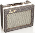 Musical Instruments:Amplifiers, PA, & Effects, Early 1960s Supro Gray Guitar Amplifier, #T48517....