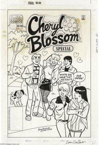 Dan DeCarlo and Alison Flood Cheryl Blossom Special #2 Cover Original Art