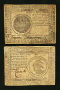 Colonial Notes:Continental Congress Issues, Continental Currency November 29, 1775 $3 Very Fine.. ContinentalCurrency May 9, 1776 $7 Extremely Fine.. ... (Total: 2 notes)