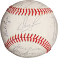 Baseball Collectibles:Balls, 1980 Philadelphia Phillies Team Signed Baseball (20 Signatures)....