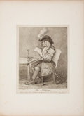 Fine Art - Work on Paper:Print, JOHN KEYSE SHERWIN (British, 1751-1790). The Politician . Etching. 14-1/2 x 11-1/2 inches (36.8 x 29.2 cm). ...