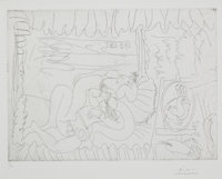 PABLO PICASSO (Spanish, 1881-1973) Untitled (from 347 Series), 1968 Etching 11 x 15 inches (27.9